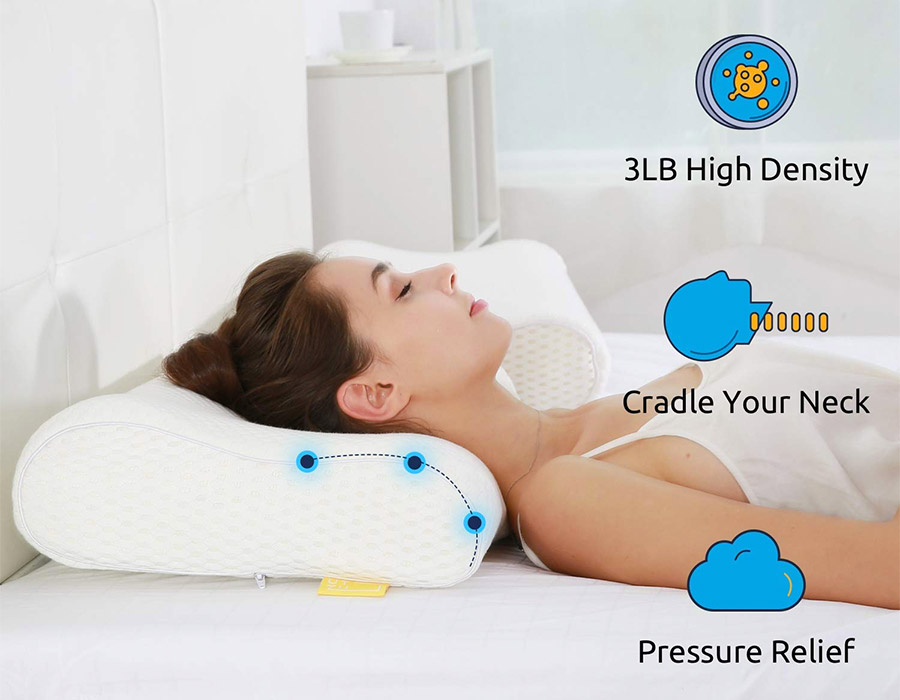 UTTU Sandwich Adjustable Orthopedic Contour Memory Foam Pillow